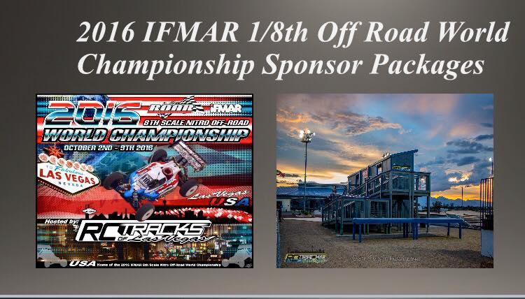2016 IFMAR 1/8th Off Road World Championship Sponsor Packages